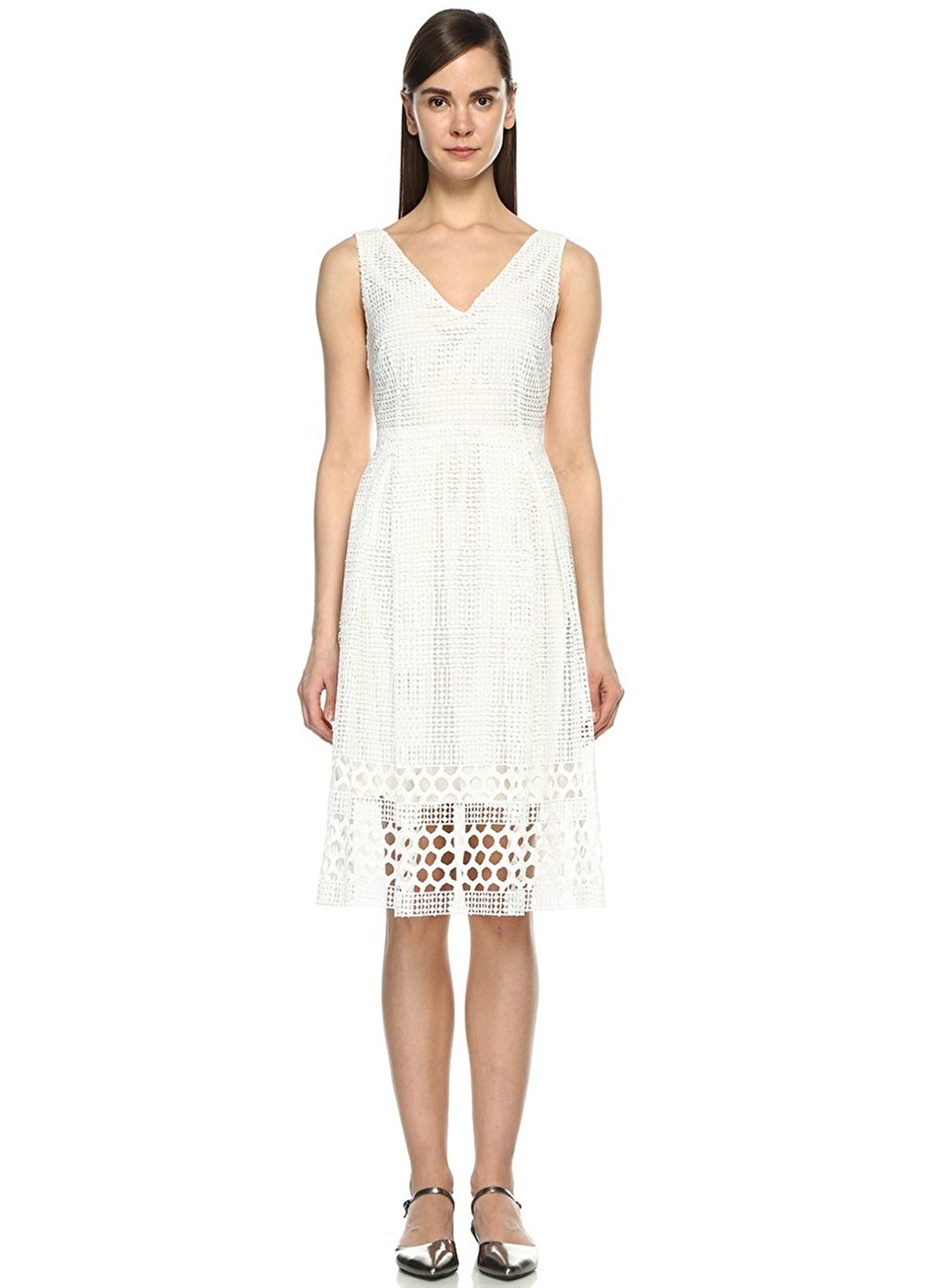 Beymen Club Kadin Abiye Elbise Kirik Beyaz Morhipo 19455102